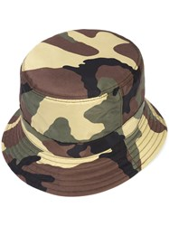Givenchy Camouflage Hat Men Acrylic Polyamide One Size Green