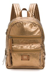 Frye Ivy Metallic Nylon Backpack Brown Bronze