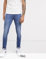 Voi Jeans Tall Skinny In Mid Washed Blue