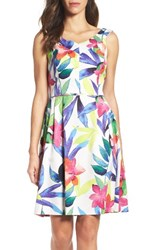 Ellen Tracy Women's Pleated Fit And Flare Dress