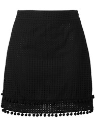 Love Moschino Perforated Mini Skirt Black