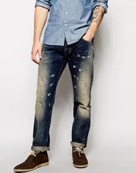 Lee Jeans By Donwan Harrell Chase Relaxed Tapered Fit Dark Tinted Distressed Darktinted