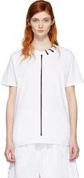 Craig Green White Lace Up Collar T Shirt