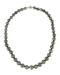 Belpearl Black Tahitian Pearl Necklace