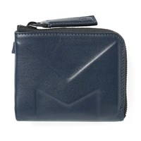 Moncler Leather Embossed Coin Wallet Blue