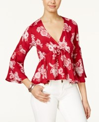 American Rag High Low Floral Print Peasant Top Only At Macy's Biking Red