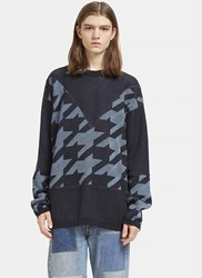Stella Mccartney Star Intarsia Crew Neck Sweater Navy