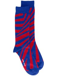 Henrik Vibskov Ray Socks Unisex Cotton Nylon Spandex Elastane One Size Blue