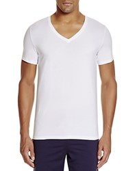 Hanro Stretch Cotton V Neck Tee White