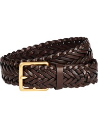Mulberry Braided Leather Belt Chocolate