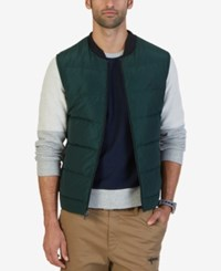Nautica Men's Quilted Down Vest Kelp Seas