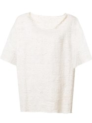 The Elder Statesman Frayed T Shirt Nude Neutrals
