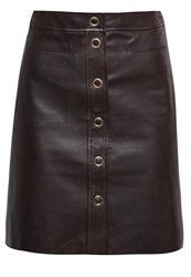 Filippa K Leather Skirt Dark Chocolate Brown