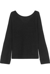 Line Paige Lace Up Ribbed Knit Sweater Black