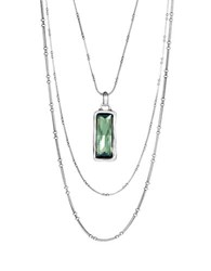 Uno De 50 Rhinestone Pendant Necklace Green