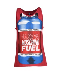 Moschino Underwear Sleeveless Undershirts Brick Red