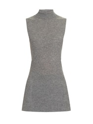 Edun High Neck Wool And Cashmere Blend Knit Top