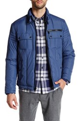 Kenneth Cole Front Zip Jacket Blue