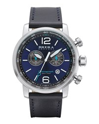 Dinamico Chronograph Watch Stainless Steel Navy Brera
