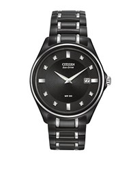 Citizen Eco Drive Diamond Dial Watch Black