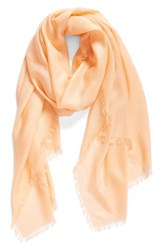 Nordstrom Women's Cashmere And Silk Wrap Coral Sunset