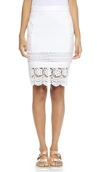 Endless Rose Lace Pencil Skirt White