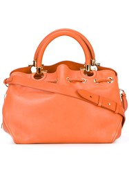 Salvatore Ferragamo Tote Bag Yellow Orange