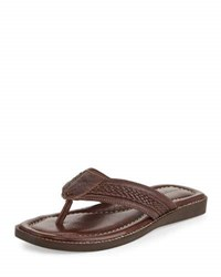 Tommy Bahama Anchors Away Leather Sandal Brown