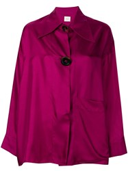 Alysi Oversized Long Sleeve Top Pink And Purple