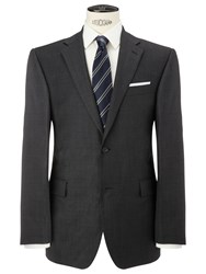 John Lewis Regular Fit Sharkskin Suit Jacket Charcoal