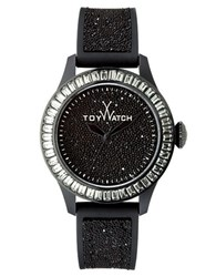 Toy Watch Ladies Swarovski Glitter Strap Black