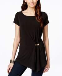 Inc International Concepts Asymmetrical Hardware Tunic Only At Macy's Deep Black