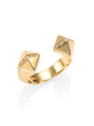 Elizabeth And James Klee Pave White Topaz Ring Gold