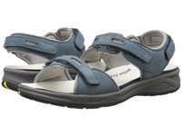 Drew Shoe Cascade Denim Blue Nubuck Women's Sandals