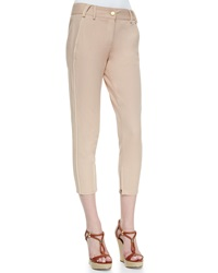 Minnie Rose Piped Cropped Twill Trousers