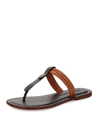 Bernardo Mercer T Strap Thong Sandal Black Brown