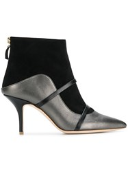 Malone Souliers Madison Two Tone Booties Grey