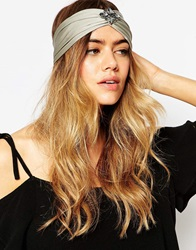 Asos 70S Jewel Hair Turban Headband Grey