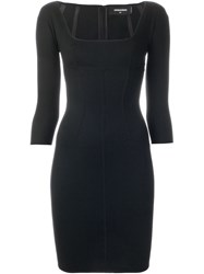 Dsquared2 Fitted Dress Black