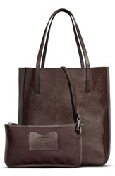 Shinola Medium Leather Shopper Brown Deep Brown