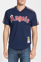 Men's Mitchell And Ness 'Rod Carew California Angels' Authentic Mesh Bp Jersey