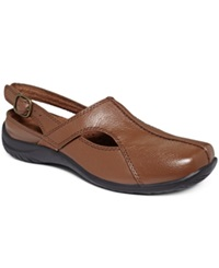 Easy Street Shoes Easy Street Sportster Comfort Clogs Women's Shoes Tan