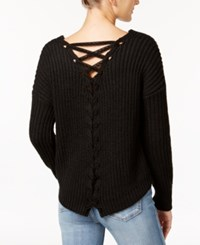 American Rag Lace Up Back Sweater Only At Macy's Cream