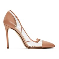 Charlotte Olympia Transparent And Pink Kitty Heels Dusty Pink
