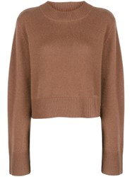 Co Oversized Cashmere Jumper Brown