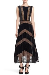 Tracy Reese Women's Lace And Velvet Combo Midi Dress
