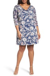 Adrianna Papell Plus Size Women's Marrakesh Embroidered Trapeze Dress
