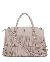 Buco Suede Fringe Tote Oyster