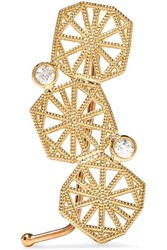 Grace Lee Gold Diamond Ear Cuff One Size