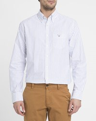 Gant White Striped Oxford Shirt